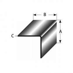 Mini-úhlový profil,rovnostranný, vnitřní rádius 0,3 mm, vnější hrana oblá, délka 2,7 m