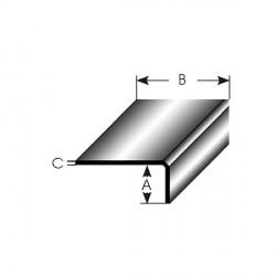 Mini-úhlový profil nerovnostranný, vnitřní rádius 0,3 mm, vnější hrana oblá, délka 2,7 m