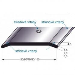 Přechodový profil 1,5 mm, nerez