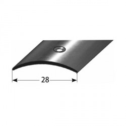 Přechodový profil 28 mm, nerez leštěná, s ochrannou folií - 1,5 mm