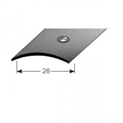 Přechodový profil 28 mm, nerez matná broušená, s ochrannou folií - 1,0 mm s SB balením