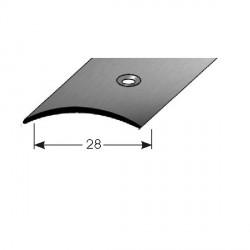 Přechodový profil 28 mm, nerez matná broušená, s ochrannou folií - 1,5 mm
