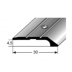 Ukončovací profil Aluminium elox, vrtaný