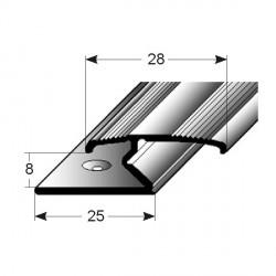 Dvojitý svěrný profill, Aluminium elox., vrtaný