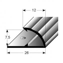Jednoduchý svěrný profil, Aluminium elox., vrtaný