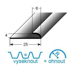 Mini- svěrný profil, Aluminium elox., nevrtaný