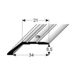 Ukončovací profil pro laminát, 34x8,5 mm, Aluminium elox. s SB balením