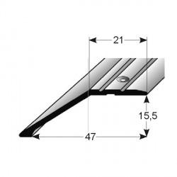 Ukončovací profil pro parkety, 47x15,5 mm, Aluminium elox.