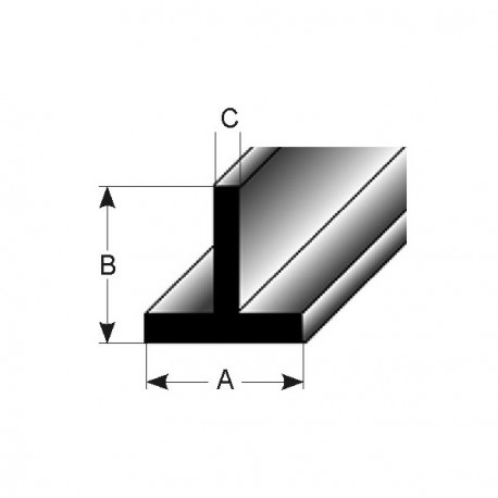 T-profil (AL-stavebí profily čisté po lisu)