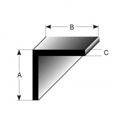 L -profil stejnostranný, stavební profily eloxované (VŠECHNO VNĚJŠÍ ROZMĚRY)