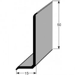 soklové lišty 15x50 mm bez lepidla mměkké PVC v roli