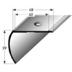 Schodová hrana 39x48 mm Aluminium, elox., vrtaná cs SB balením