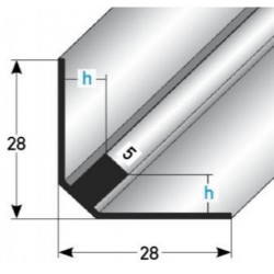 Vnitřní schodový roh, nerez matná, vrtaná 8mm