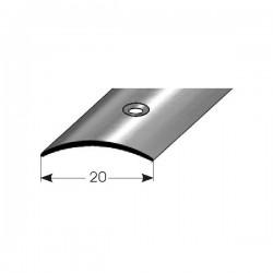 Přechodový profil 20 mm, mosaz, středově vrtaný, s ochrannou folií
