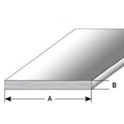 Plochý profil/soklová lišta 1/1,5/2/3 mm, nerez matná