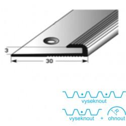 Zásuvný profil 3 mm, Aluminium elox., vrtaný