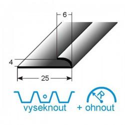 Mini- svěrný profil, Aluminium elox., nevrtaný s SB balením