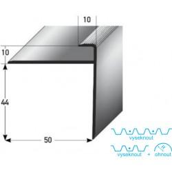 Zásuvný profil s velkým nosem pro parkety 10 mm, aluminium, elox. vrtaný s SB balením