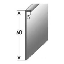Soklová lišta pro vlepení 60 x 5 mm, aluminium