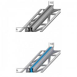 Dilatační profil se silikonovu šedou vložkou, 2,5 m nerez