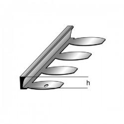 Profil pro dlažbu / oddělovací profil 2,5m mosaz čistá