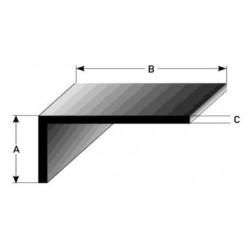 L -profil různostranný, stavební profily eloxované (VŠECHNO VNĚJŠÍ ROZMĚRY)