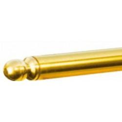 Mosazná tyč rpůměr 13 x 1 mm leštěná lakovaná