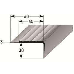 PVC - schodové hrany 30 x 45 x 3 mm