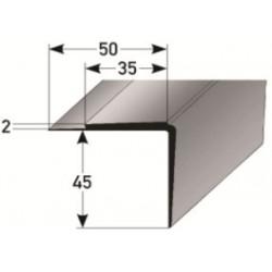 PVC - schodové hrany 45 x 35 x 2 mm
