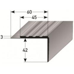 PVC - schodové hrany 42 x 45 x 3 mm