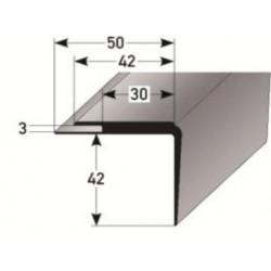 PVC - schodové hrany 42 x 42 x 3 mm