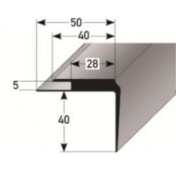 PVC - schodové hrany 40 x 40 x 5 mm