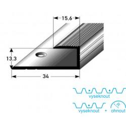Zásuvný profil pro parkety 13 mm, aluminium elox., vrtaný s SB balením