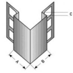 Ochranná hrana pro obklady, nerez matný 1,0 mm