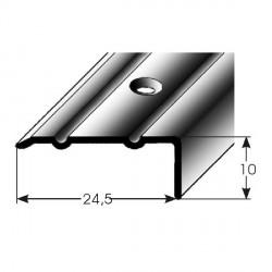 Úhlový profil 10x24,5 mm aluminium elox., vrtaný