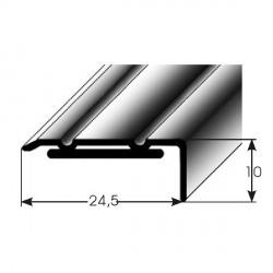 Úhlový profil 10x24,5 mm aluminium elox, samolepící dřevodekory-folie
