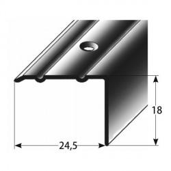Úhlový profil 18x24,5 mm Aluminium elox., vrtaný