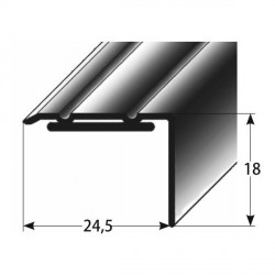 Úhlový profil 18x24,5 mm Aluminium elox., samolepící s SB balením