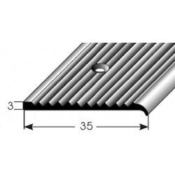 Schodová hrana 3 x 35 mm, vrtaná
