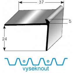 Vyseknutí upevňovacího ramene pro schodovou hranu 24x37x5 mm Aluminium, vrtaná