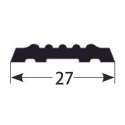 PVC-vložka pro kombi - schodovou hranu z měkkého PVC - vroubkovaná