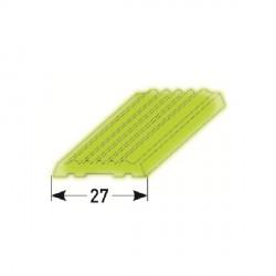 PVC-vložka 27 mm pro kombi - schodovou hranu z měkkého PVC, vroubkovaná fluoreskujicí