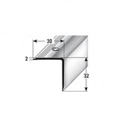 Schodová hrana 32 x 30 mm, aluminium, eloxovaná, vrtaná
